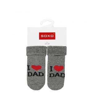 """НОСКИ SOXO """" I LOVE MUM, I LOVE DAD"""