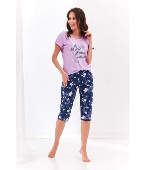 Женская пижама/ домашний комплект с капри Taro 2369 Agnieszka S-XL