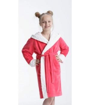 Мягкий махровый халат для девочки Dorota FR-211 134-140