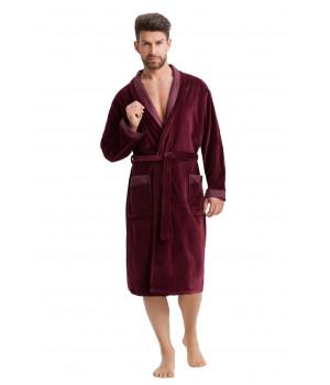Мужской велюровый халат Dorota SF-038