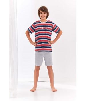 Домашний комплект с полосатой футболкой для юноши Taro 344 Max 146-158
