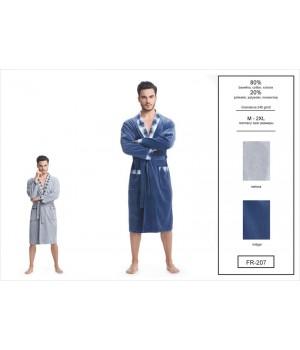 Мужской велюровый хлопковый халат Dorota FR-207