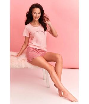 Женская летняя пижама с узорчатыми шортами Taro 2361 Nika S-XL