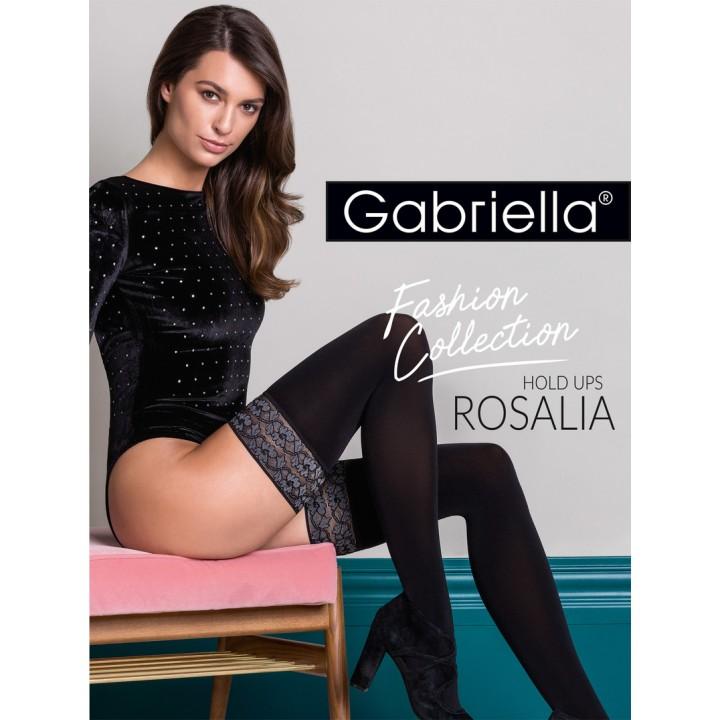 Женские матовые чулки на силиконе Gabriella Rosalia