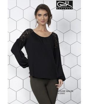 Элегантная женская блуза c кружевом на плечах Gatta Malta