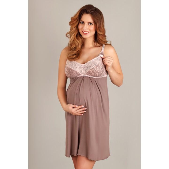 Ночная сорочка для беременных и кормящих мам Lupoline 1383