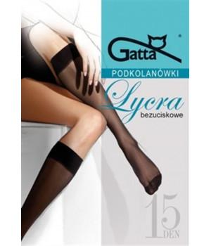 Женские полуматовые гольфы GATTA LYCRA 15 DEN