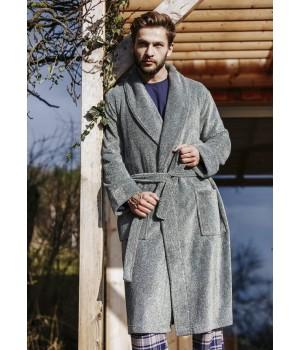 Мужской элегантный флисовый халат Key MGL 215