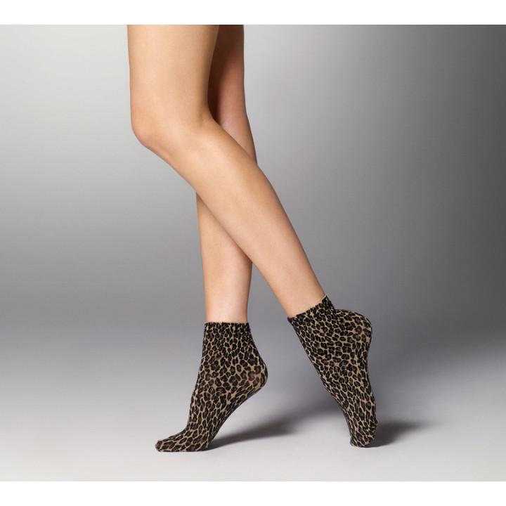 Женские короткие носочки с леопардовым узором Veneziana Leopardo