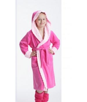 Мягкий махровый халат для девочки Dorota FR-211 122-128