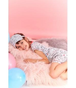 Домашнее платье с забавным узором для девочки Taro 2206 Pepa 104-140
