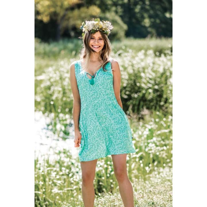 Женское летнее домашнее платье Key LHD 560 A19, вискоза