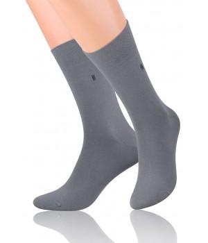 Носки гладкие с тонким рисунком 056