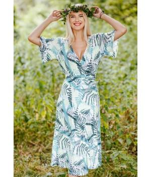 Женское летнее домашнее платье-конверт Key LHD 907 A20