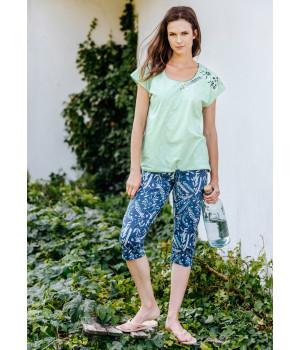 Женская хлопковая пижама с цветочным принтом Key LNS 915 A20