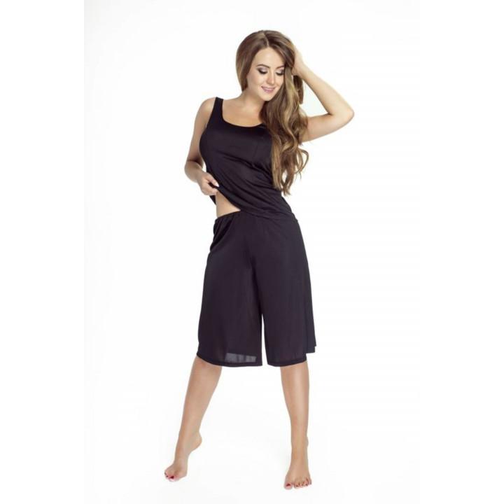 Удлиненные женские шорты из шелковистой вискозы Mewa 84143